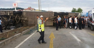 В Турции перевернулся автобус с детьми. 36 человек получили травмы