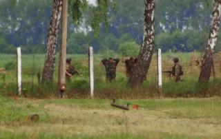 На Житомирщине возле воинской части телевизионщики пытались запустить дрон