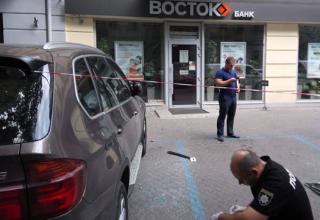 В Одессе на пороге банка ограбили предпринимателя