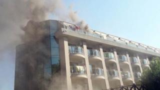 В Турции загорелся отель. Эвакуированы около 400 человек