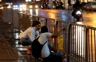 На Тайване бушует мощный тайфун