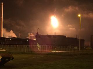 В Роттердаме произошел пожар на нефтеперерабатывающем заводе