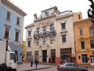 В Черновцах дожди сильно повредили здание художественного музея. Пострадало столетнее панно