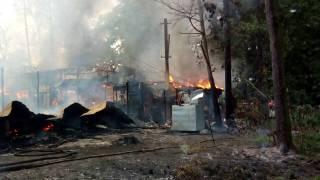 В Киеве в парке Пушкина произошел сильный пожар. Сгорел ресторан