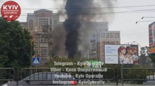 В Святошинском районе Киева крупный пожар
