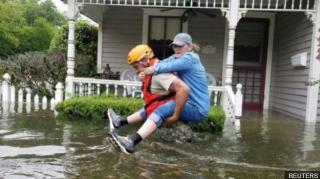 Ураган «Харви» спровоцировал сильнейшее наводнение в Хьюстоне