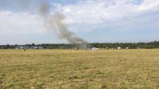 В России на авиашоу разбился самолет