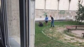 В Киеве у здания КПИ мужчина перерезал себе горло, оставив предсмертную записку