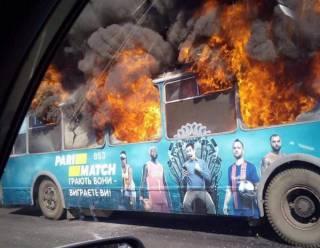 Еще один пожар в Одессе: на ходу загорелся и сгорел дотла троллейбус