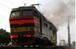 Под Киевом на ходу загорелся пассажирский поезд
