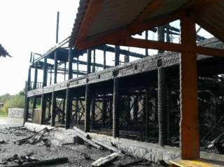 На Закарпатье сгорела база отдхыха