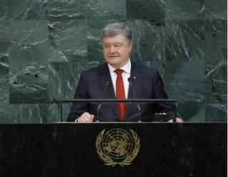 Порошенко выступил на Генассамблее ООН и покинул зал перед выступлением Лаврова
