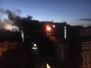 В Киеве горит химлаборатория Института пищевых технологий