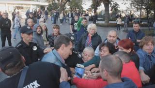 Саакашвили в Одессе: малочисленный митинг и избиение инвалида, - СМИ