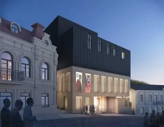 Порошенко пафосно открыл театр, здание которого киевляне назвали «крематорием» и «огромным МАФом»