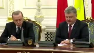 Почему Эрдоган уснул во время пресс-конференции с Порошенко