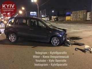 В Киеве пьяный полицейский спровоцировал серьезное ДТП