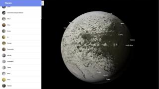 Google запустил сервис, который позволяет прогуляться по планетам Солнечной системы, и их спутникам, как по Земле
