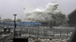 К Японии приближается мощный тайфун. Отменены сотни авиарейсов