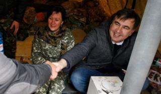 Саакашвили переехал в палаточный городок под Радой и сделал официальное заявление