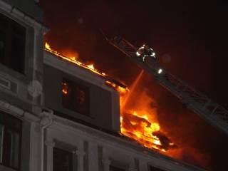 В Киеве ночью горело «конфликтное» общежитие с переселенцами