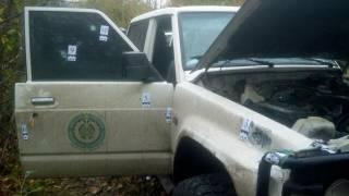 Появилось фото расстрелянного автомобиля Окуевой. Она приняла на себя 6 пуль