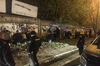 Около 200 футбольных хулиганов устроили очередное побоище в Киеве