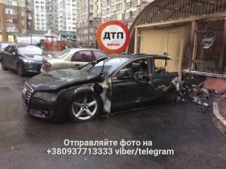 Ночью в Киеве взорвался и сгорел автомобиль водителя экс-министра инфраструктуры, - СМИ
