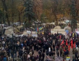 В центр Киева стягивают силовиков