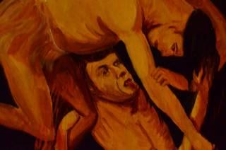 В одном из храмов на Ивано-Франковщине обнаружена икона с изображением Ющенко в окружении голых женщин в адском огне
