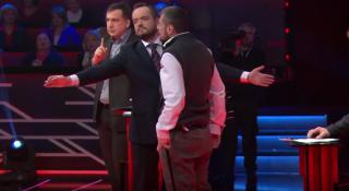 Мосийчук в прямом эфире накинулся на Саакашвили с костылем