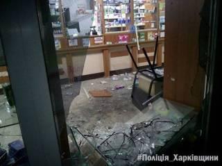В окно харьковской аптеки неизвестные бросили гранату