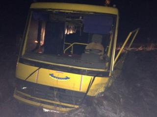 На Житомирщине лихач на встречке столкнулся со школьным автобусом