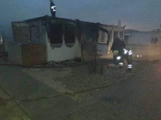 На пожаре в городке для переселенцев в Каменском погиб 2-летний ребенок