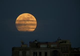 Этой ночью Луна подарила жителям Земли настоящее шоу