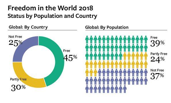 Freedom House: Грузия как ираньше входит всписок частично свободных стран