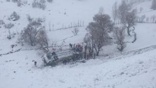 В Турции из-за снегопада разбился пассажирский автобус. Есть жертвы