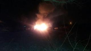 В Кременчуге упал вертолет. Возможно, врезался в линию электропередач