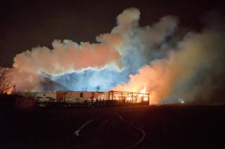 В Польше взорвался газопровод. Близлежащие дома сгорели дотла