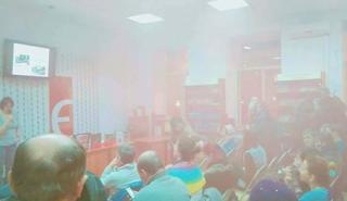 Во Львове в зал, где проходила лекция о Холокосте бросили дымовую шашку