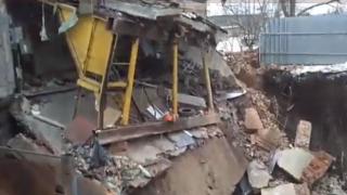 В Харькове под землю провалилось целое здание