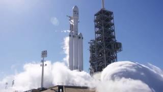 Исторический запуск Falcon Heavy прошел не так гладко, как хотелось