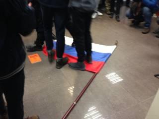 В Киеве радикалы из С14 устроили погром в здании Россотрудничества, где как раз репетировали дети