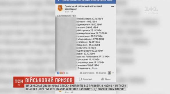 Львовского областного военкома оштрафовали заобнародование списков призывников