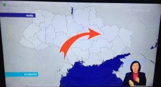 Накануне выборов президента РФ сразу два общеукраинских телеканала показали карту Украины без Крыма