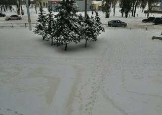 На оккупированном Донбассе выпал оранжевый снег