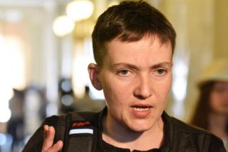 Савченко дала брифинг в Раде