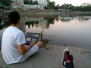 В Украине создан уникальный робот, который позволяет жителям городов очищать свои водоемы