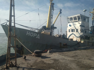 В Азовском море задержали российское судно
