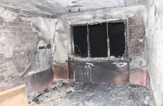 В Хмельницком загорелось общежитие. Из огня вывели 77 студентов